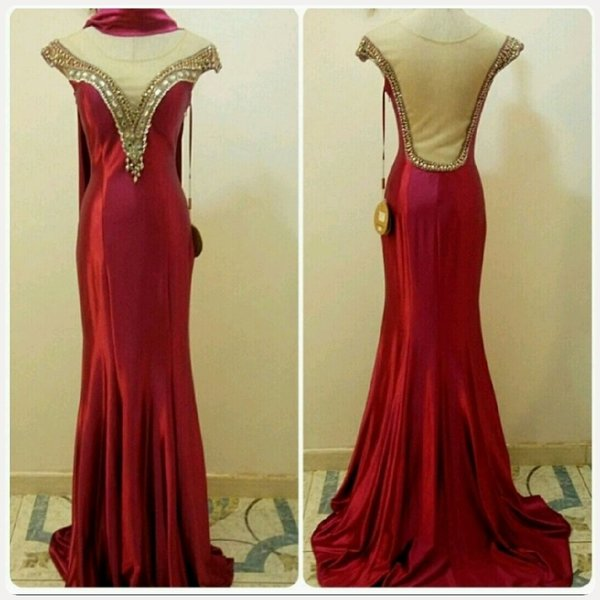Used Elegant RED Long Dress...unique fabulous in Dubai, UAE