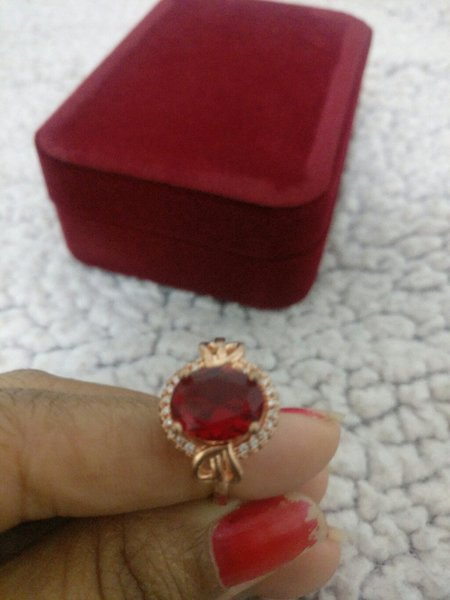 Used 18k gold plated ring for women in Dubai, UAE