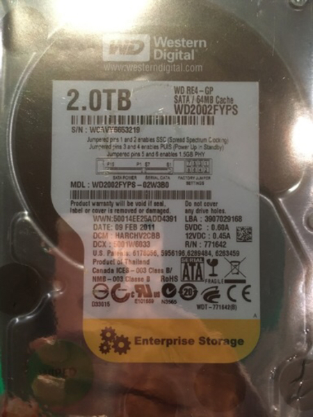 Used Wd 2 tb internal hdd in Dubai, UAE