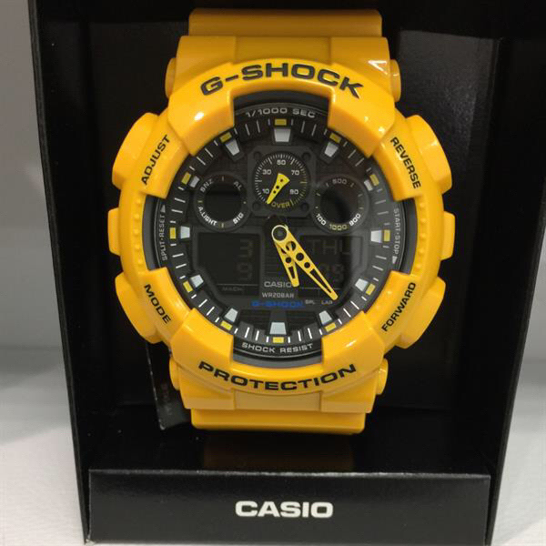 Used Original Gshock With 1year Warranty International Actual Photo Bumblebee in Dubai, UAE