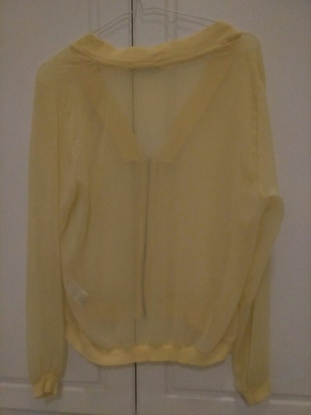 Used Front zip top, bright yellow, size S in Dubai, UAE
