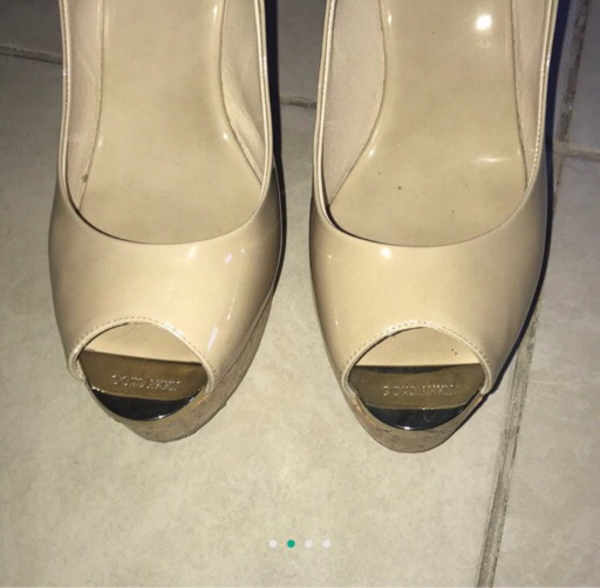 Used Jimmy Choo sandals. Size 38. 3 years old in Dubai, UAE