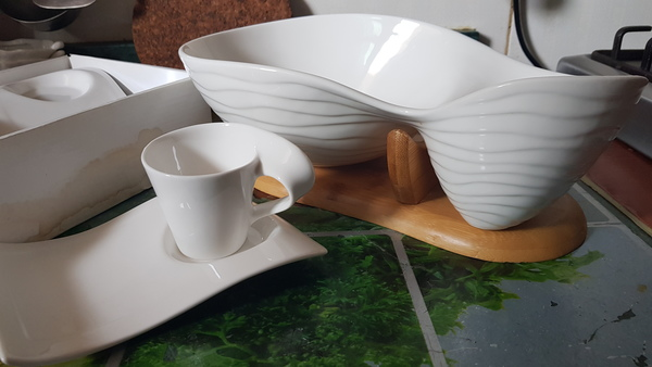 Used Cup and Saucer with Salad bowl in Dubai, UAE