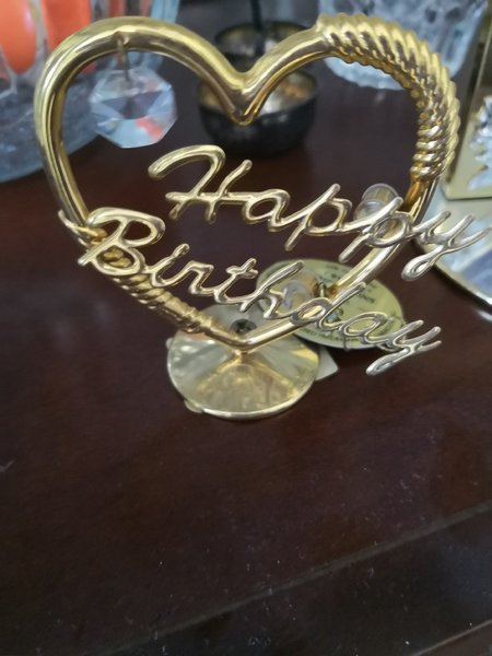 Used 24 crt gold plated crystal HB gift frame in Dubai, UAE