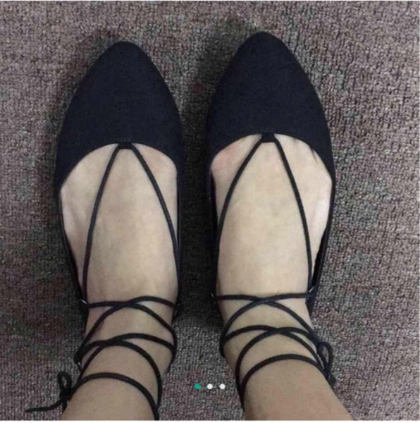 Used New look lace up flats in Dubai, UAE