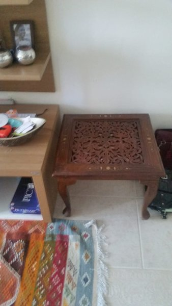 Used Wooden Coffee Table with 2 matching side in Dubai, UAE
