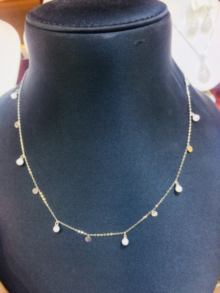 Used 925 Silver new pearl necklace  in Dubai, UAE
