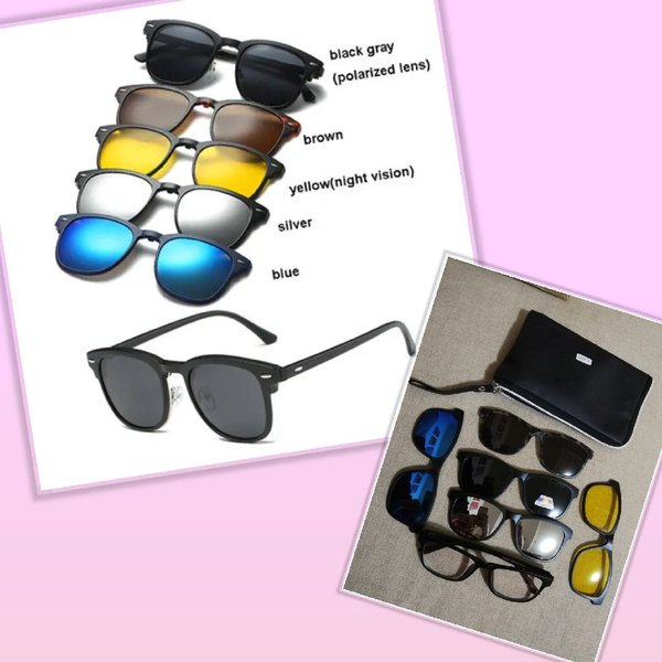 Used New sunglasses with 5 magnet put on lens in Dubai, UAE