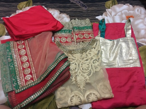 Used Indian heavy party wear suit in Dubai, UAE