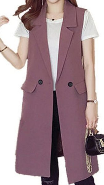 Used New long sleeveless blazer in Dubai, UAE