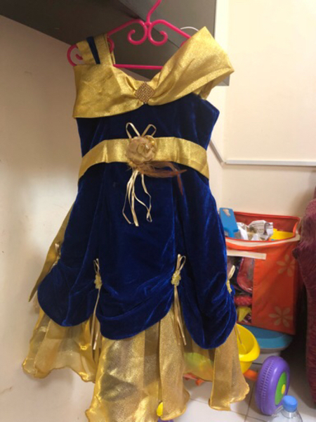 Used Party frock for 2 to 3 years used once in Dubai, UAE
