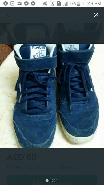 Used Reebok sports shoes in Dubai, UAE