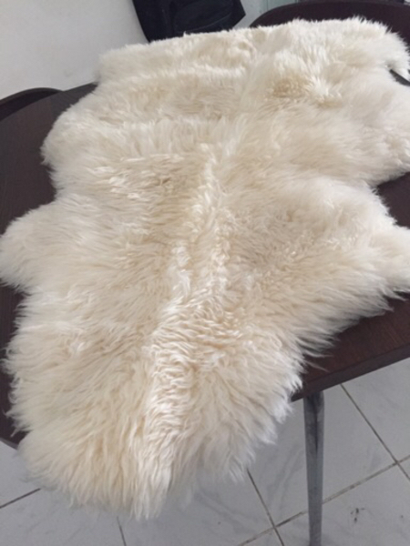 Used Faux Fur Rug Sofa Throw  in Dubai, UAE