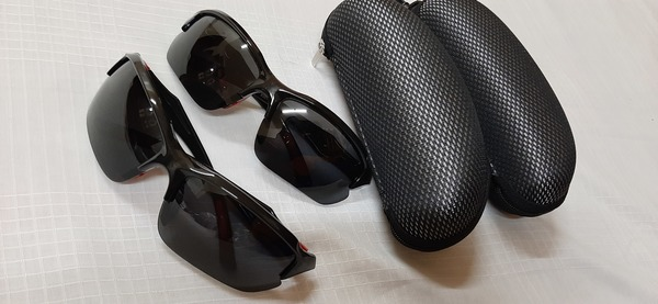 Used 2 new cycling eyewear with boxes in Dubai, UAE