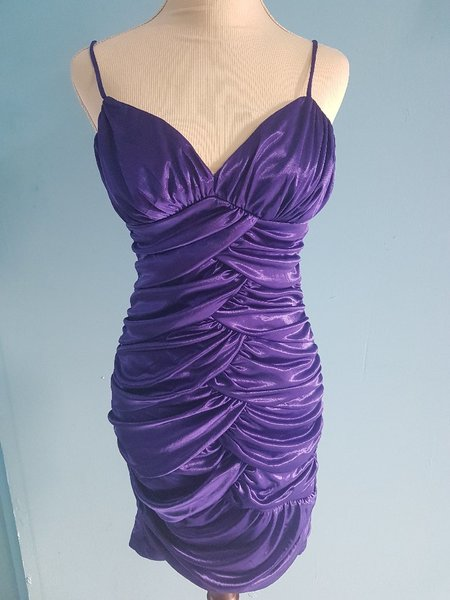 Used Purple Dress Party Wear -Size M in Dubai, UAE