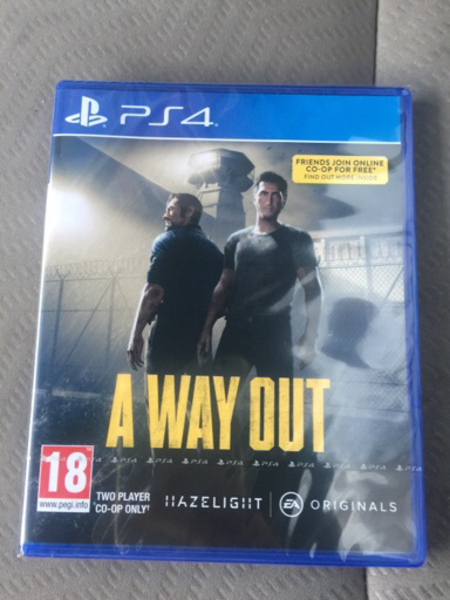 Used PS4 A way out  in Dubai, UAE