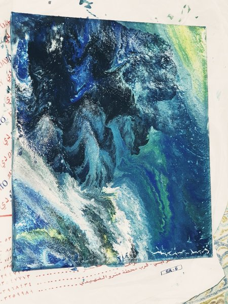 Used Pour painting mountain view in Dubai, UAE