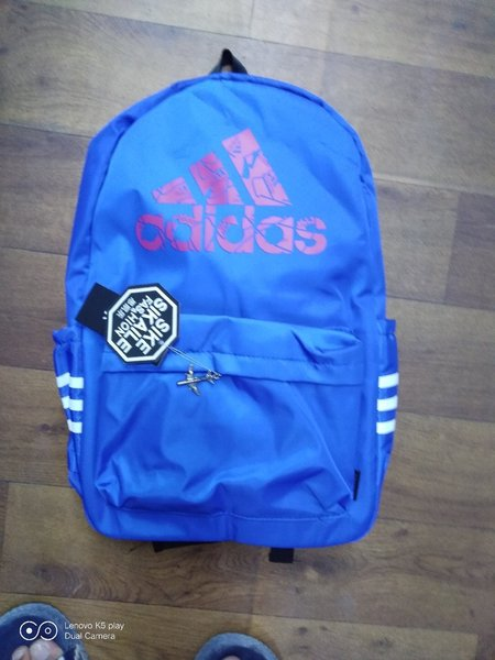 Used Adidas blue bagpack in Dubai, UAE