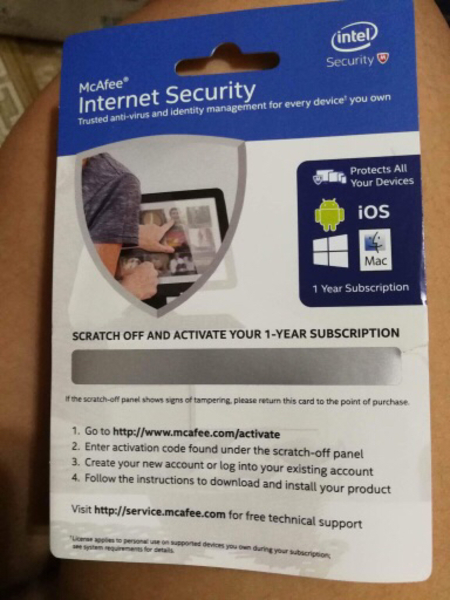 Used Mcafee Internet Security for 1 year in Dubai, UAE