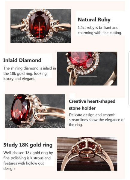 Used 18K Plated Red Girconia Ring size10 in Dubai, UAE