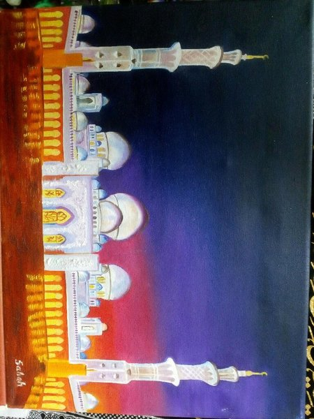 Used The Shk Zayed Grand Mosque Painting ! in Dubai, UAE