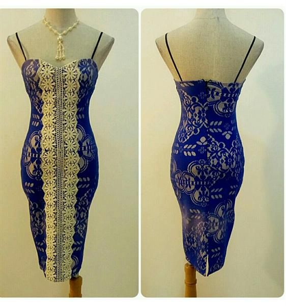 Used Fabulous Short Dress Sleeveless Blue Color Available Sizes Never Worn Very Nice Fitting  in Dubai, UAE