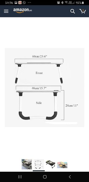 Used Folding Laptop table!! Best Price!! in Dubai, UAE