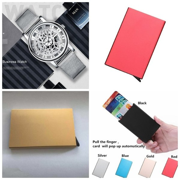 Used 3 anti theft wallets + silver watch in Dubai, UAE