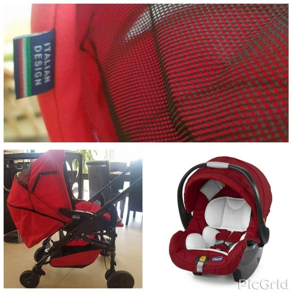 Used Chicco Italian babystroller and carseat  in Dubai, UAE