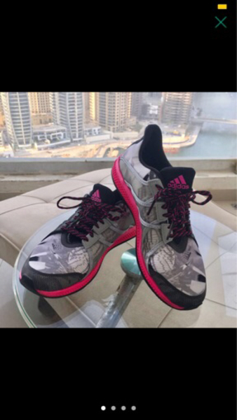 Used Adidas shoes worn once size 38-39 in Dubai, UAE