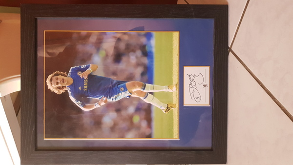 Used Signed Framed David Luiz Poster Chelsea in Dubai, UAE