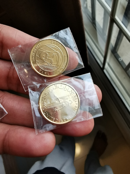 Used 24k carrot 1aed coin in Dubai, UAE