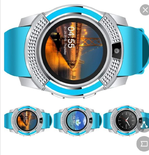 Used V8 Smart Watch Blue With Camera in Dubai, UAE