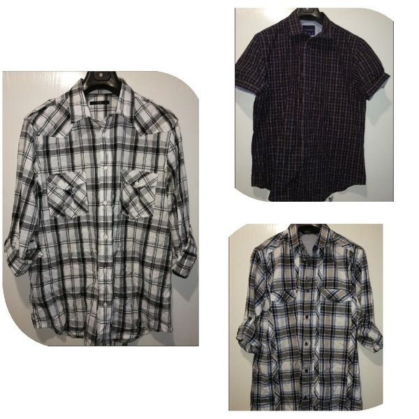 Used 3 branded shirts for him size Xl in Dubai, UAE