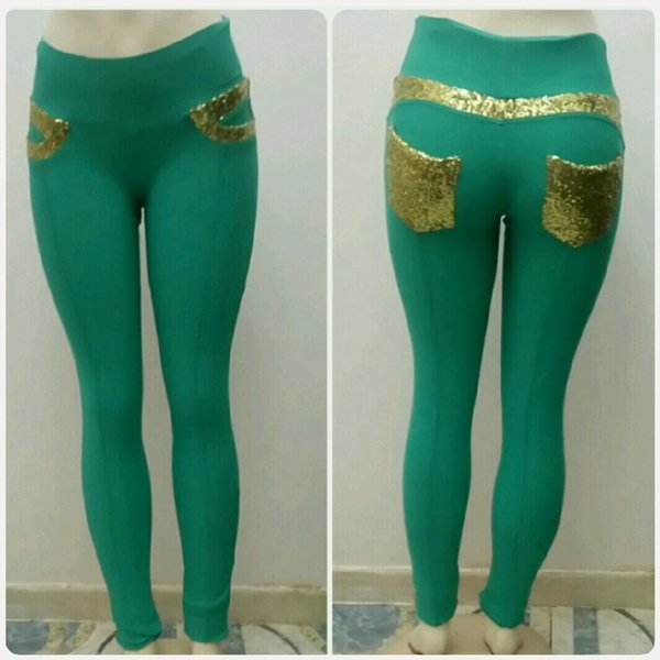 Used Jegging Slim fit Turquoise color for Her in Dubai, UAE