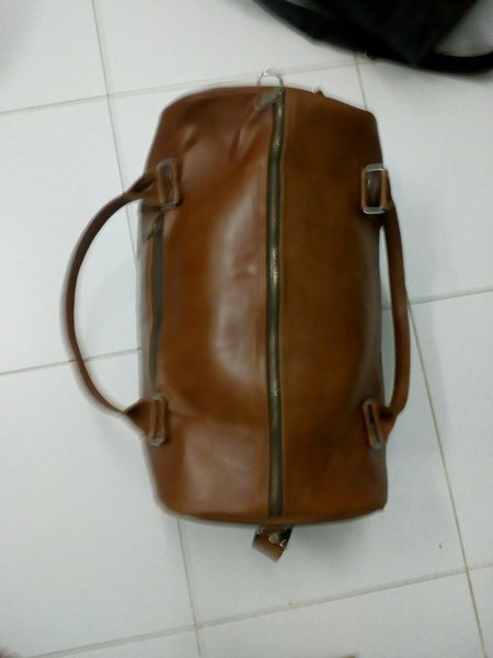 Used Leather duffle bag in Dubai, UAE