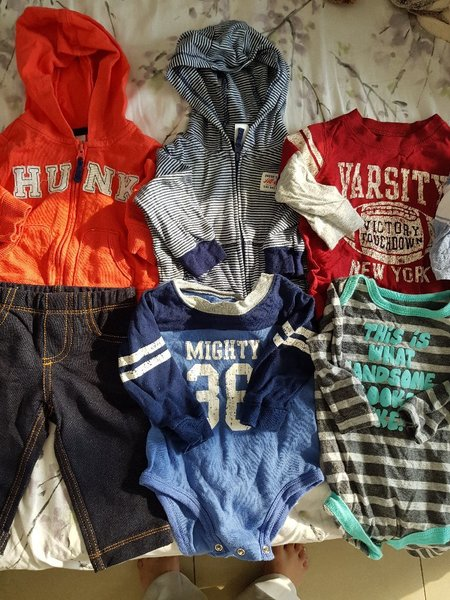 Used Baby boy clothes (6 months) in Dubai, UAE