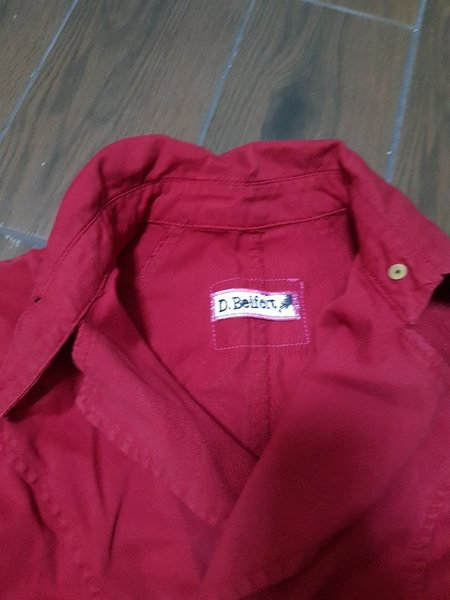 Red jeans jacket