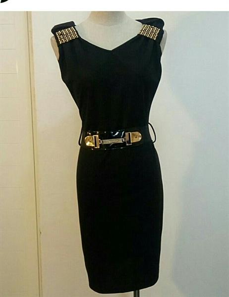 Used Short Dress Black Color With Belt Availa in Dubai, UAE