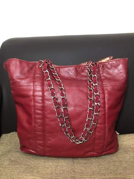 Used Furla leather tote in Dubai, UAE