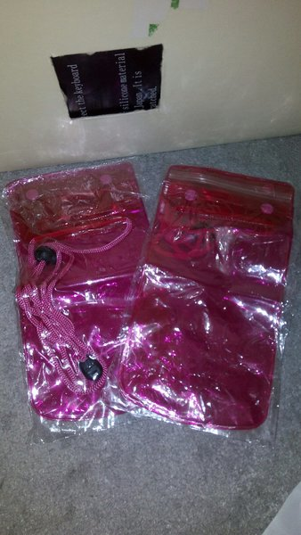 Used 2pcs waterproof pouches in Dubai, UAE