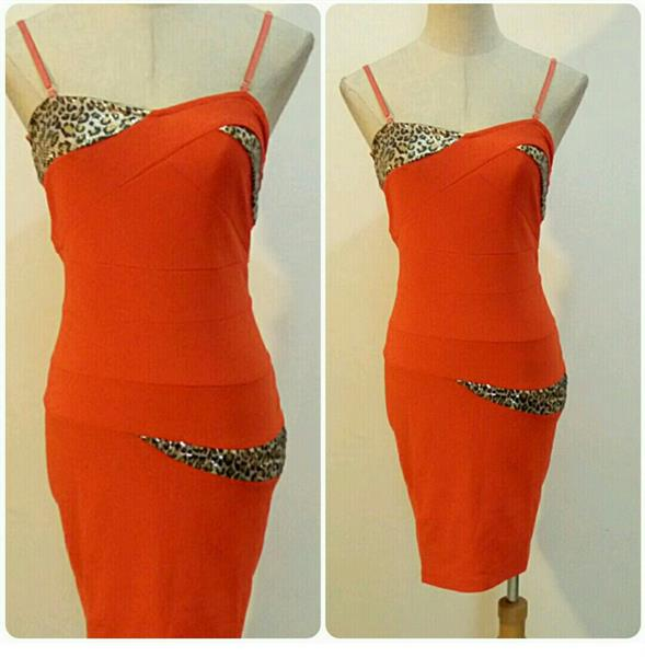 Used Short Dress Orange Color Available Sizes in Dubai, UAE