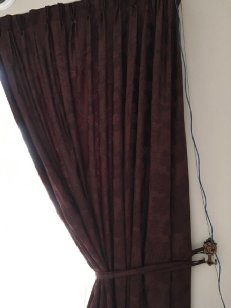 Used Brown large curtains in Dubai, UAE