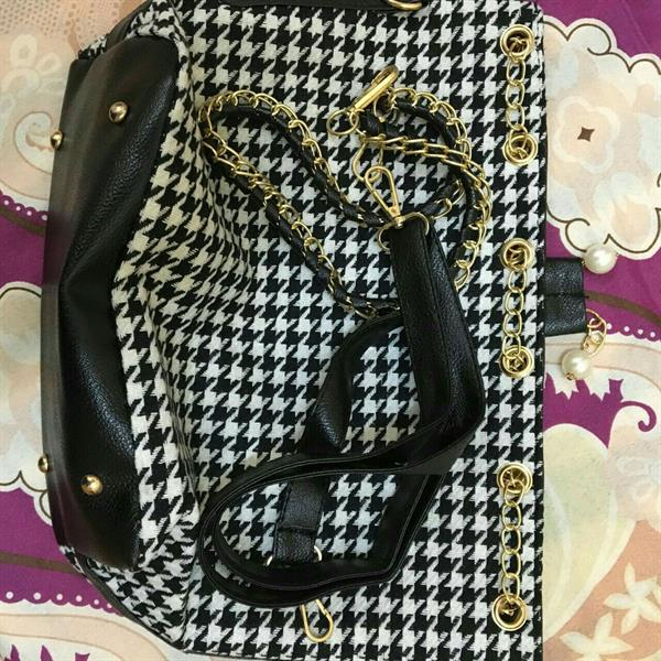 Used Black&White patterened bag with Satch in Dubai, UAE