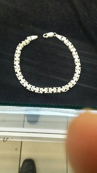 Used silver 925 bracelet for men's in Dubai, UAE