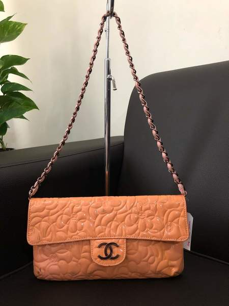 Used Chanel camellia peach in Dubai, UAE