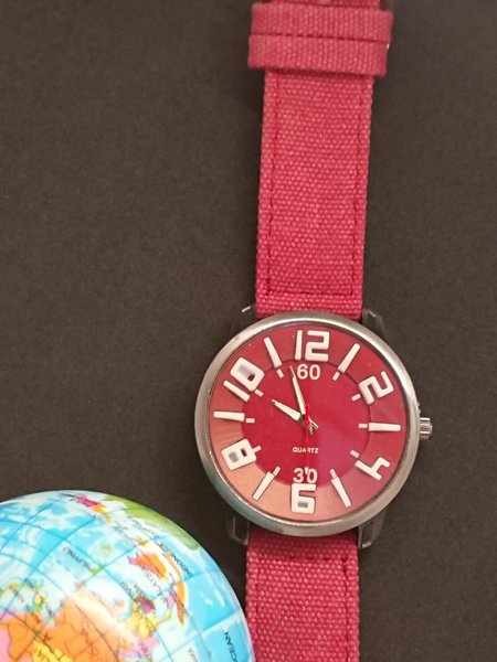 Used Fabric Red love Watch  💘 in Dubai, UAE