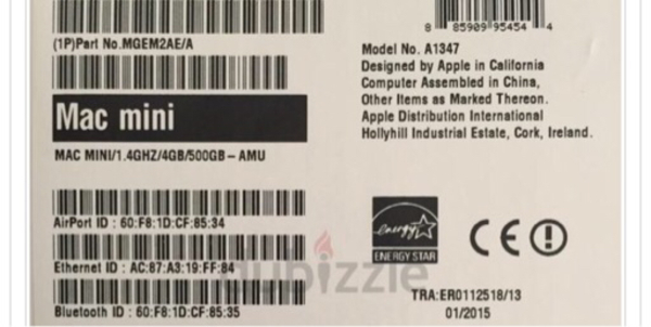 Used Mac mini with free apple keyboard  in Dubai, UAE