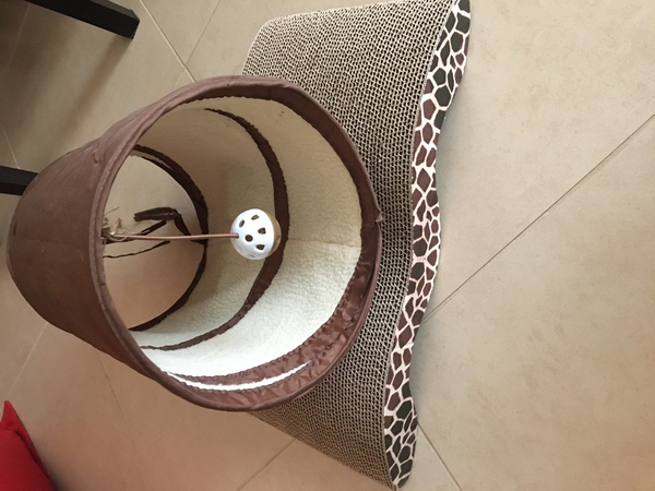 Used Cat scratcher and play tunnel  in Dubai, UAE