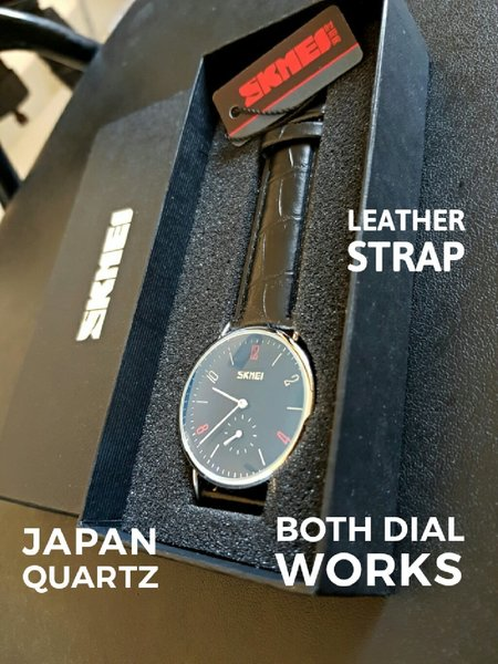 Used {Both Dial Works} Genuine Leather Watch in Dubai, UAE